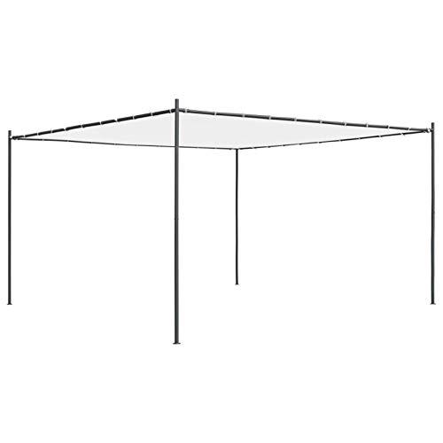 Tidyard Gazebo con Tetto Piano 4x4x2,4 m Bianco 180 g/m²,Riunioni di Famiglia, Barbecue, Picnic Pomeridiani, Campeggi,Gazebo da Giardino