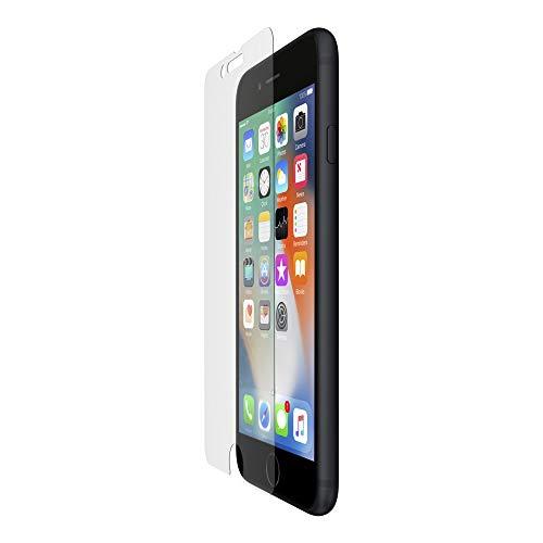 Belkin ScreenForce InvisiGlass Film de protection d'écran anti-microbien pour iPhone 8/iPhone 7/iPhone 6S/iPhone 6 (Protection d'écran de l'iPhone, réduit les bactéries sur l'écran jusqu'à 99 %)