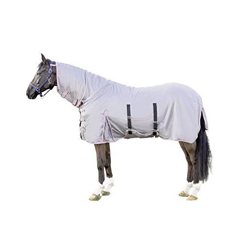 Manta antimoscas con cuello de color gris 9500 145
