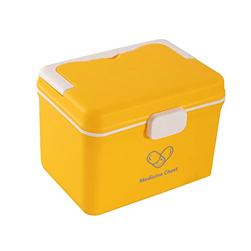 Gofeibao Caja Botiquin Botiquin Casa Caja Grande de Almacenamiento de medicinas Grandes Cajas de Almacenamiento Caja de Almacenamiento de Primeros Auxilios Yellow,One Size