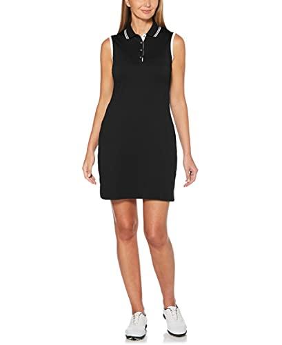 Callaway Damen Solides Golfkleid, Damen, Kleid, Solid Golf Dress, Caviar, XX-Large