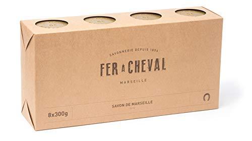 Fer à Cheval - Véritable Savon de Marseille à l'huile d'olive - Cube Lot de 8x300g