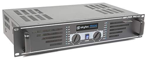Skytec SKY-240B 2.0Kanäle Leistung/Phase Verkabelt Schwarz - Audioverstärker (2.0 Kanäle, 0,5%, 95 dB, 240 W, 120 W, Binding Post/NL4)