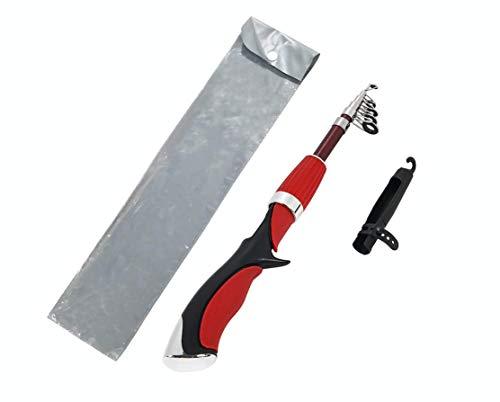 VILTAGE コンパクトロッド ベイトロッド 収納時約35cm 穂先カバー付き ルアー釣りバス釣り 海水対応 スピニング装着可能