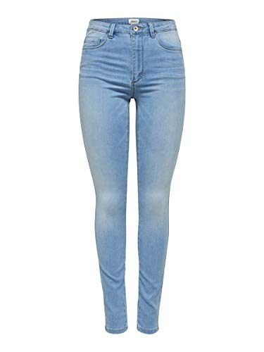 ONLY Damen Onlroyal Hw Sk Bb Bj13333 Noos Jeans, Light Blue Denim, L / 32L