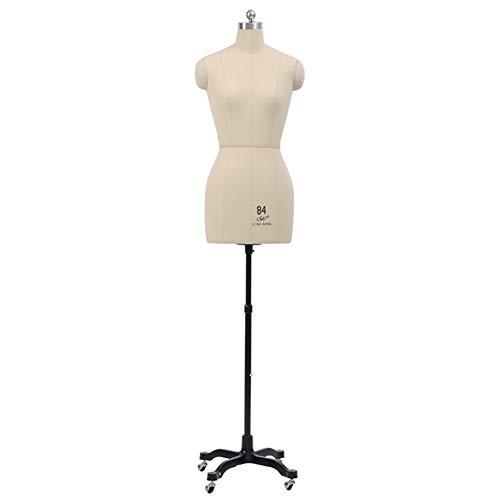 Maniqui Costura Mujer Modista Torso de maniquí de costura, forma de vestido de vestido de novia de prendas femeninas, cuerpo de maniquí de espuma de poliestireno ligero ajustable en altura, tiendas de