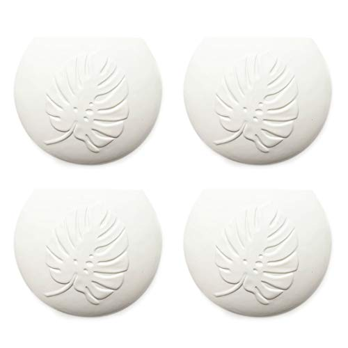 A1658 - Set di 4 umidificatori in ceramica Botanical, piatto per il fissaggio al termosifone, diffusore di acqua