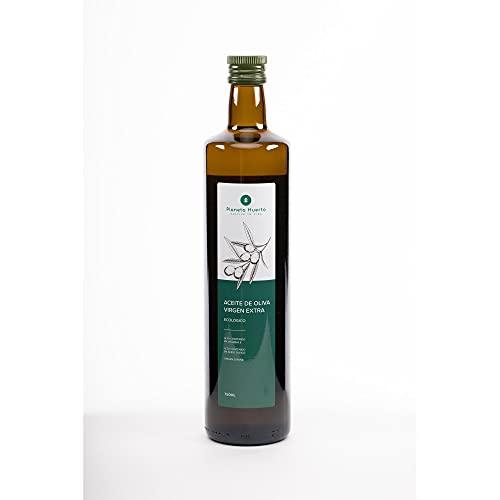 Planeta Huerto | Aceite de Oliva Virgen Extra Ecológico - 750 ml Botella Cristal | Alimento de Elaboración Natural, Orgánico Rico en Ácido Oleico (omega 9) | para Ensaladas, Tomar en Crudo o Cocinar