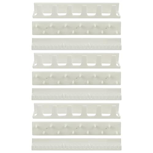 Ganchos Adhesivos para Colgar Joyas (9 Piezas) - Gancho de pared Auto Adhesivo Percha de Joyería - Soporte de Almacenamiento de Joyas para Collar, Anillo y Arete