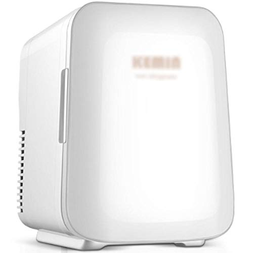 Refrigerador portátil de 4L de 4L, mini refrigerador de uso doble y frío para automóvil y hogar, estuche cosmético AC/DC / 12V / 220V-blanco_4L