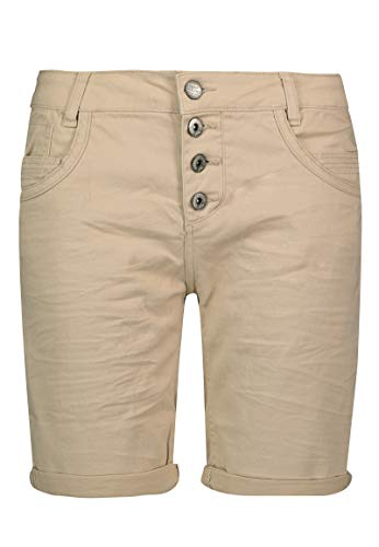 Urban Surface Damen Stoff Bermuda Shorts aus Stretch-Twill beige L