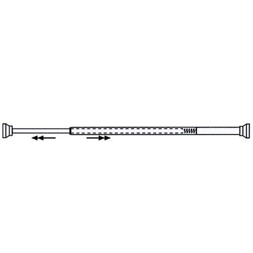 MAURER 4042205 Barra para Cortina Ducha Extensible Aluminio Blanco125 a 220 cm