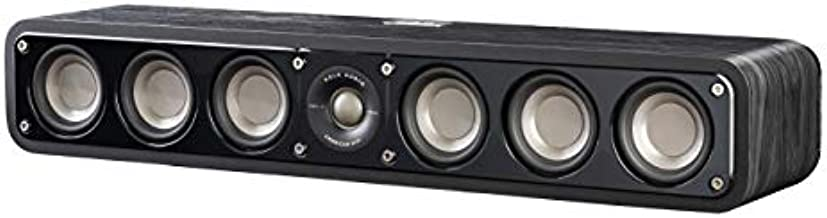 Polk Audio Signature Series S35 Center Channel Speaker (6 Drivers) | Surround Sound | Power Port Technology | Detachable Magnetic Grille,Black