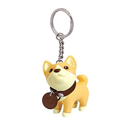 Bingxue Shiba Inu Dibujos Animados Lindo Perro Llavero Mascota Llavero Cachorro Colgante Monedero...