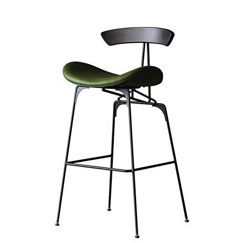 PU Industrie Theke Höhe Barhocker Stühle mit Rücken, Höhe in der Küche Esstheke Zimmer in Mehreren Farben Barhockern (Color : Green)