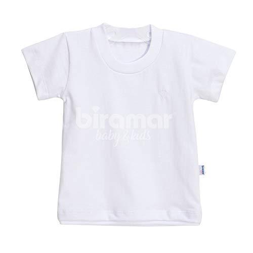 Biramar Baby Camiseta para Bebê e Kids Manga Curta, P, Branco