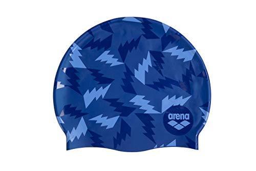 ARENA Print 2 Swim Caps, Adultos Unisex, Azul, TU