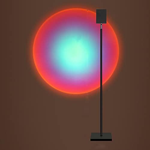 Lámpara De Proyección De Puesta De Sol con Rotación, Luz LED No Deslumbrante, Experiencia Visual Romántica, Lámpara De Atmósfera, Estilo Ins para Dormitorio, Boda, J 180cm