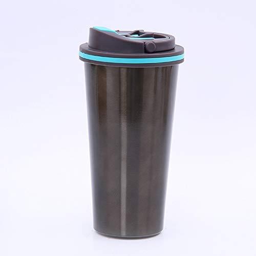 XHXMA Grande capacité 500 ML de Voiture créative en Acier Inoxydable Bouilloire de café Tasse Thermos Portable Bouteille d'eau Chaude-Noir, 500 ML