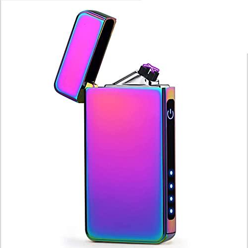 ZLZNX Mechero Eléctrico, USB Recargable Encendedor Doble Arco A Prueba de Viento...