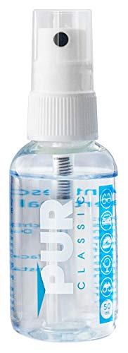 PUR CLASSIC Antibeschlag Spray 50 ml | PREMIUM Made in Germany | universell einsetzbar | ideal geeignet für Brillen, Skibrillen, Sportbrillen u. Taucherbrillen, Autoscheiben,Helmvisiere, Bad, Visiere