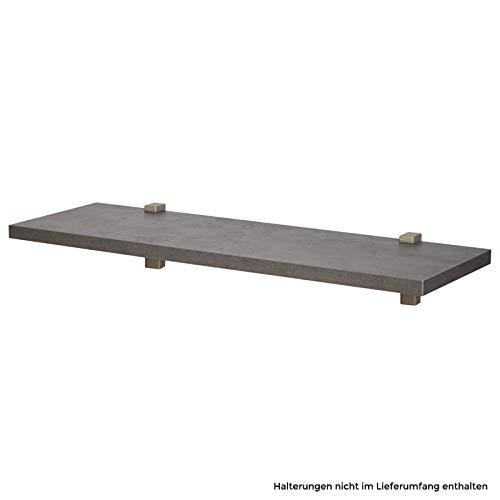 Wandboard/Wandregal nobilia elements VB25, 354 Beton Schiefergrau, 90 cm