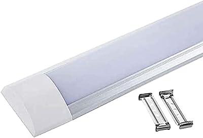 2ft, 3ft, 4ft, 5ft Linear Batten LED Ceiling Light Fittings for Indoor use (3000k Warm White, 2ft - 60cm)