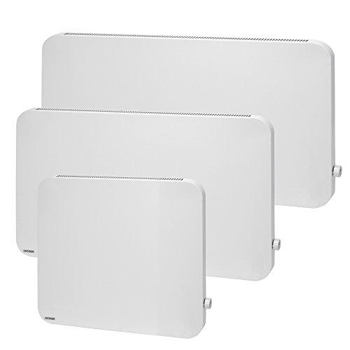 VASNER Konvi Plus Design Infrarot-Hybridheizung 600 Watt weiß re Ecken 60x60cm Thermostat Bild 6*