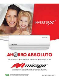Mini Split Mirage Inverter X frio/calor 110v 12,000 btus