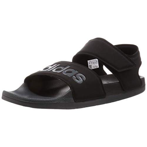adidas Adilette Sandal, Scarpe da Ginnastica Unisex-Adulto, Core Nero/Grigio Sei/Nero Nero, 42 EU