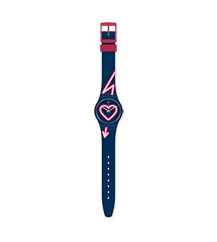 Swatch Reloj Analógico para Mujer de Cuarzo con Correa en Silicona GN267