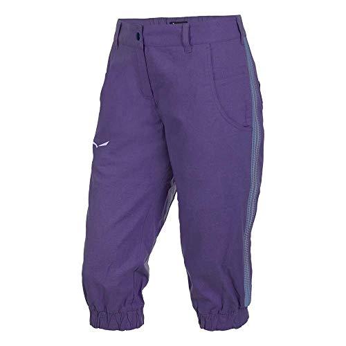 Salewa Pantalon d'Escalade 3/4 Frea Co/Hemp pour Femme FR:38 Mystical Purple