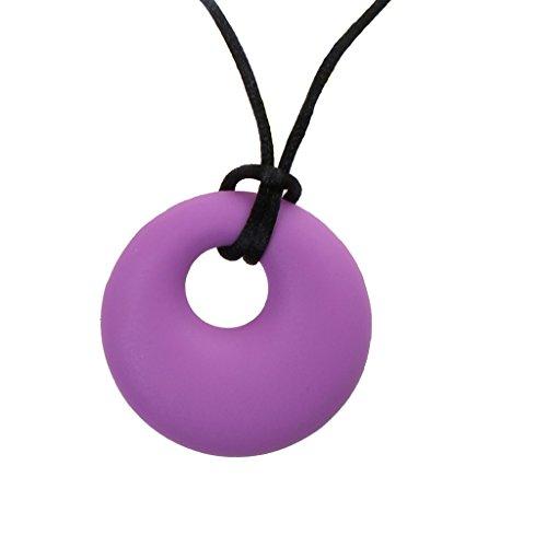 Sharplace Collares Siliconas para Niñas Lactancia Collar de Mascar para Bebé - Púrpura