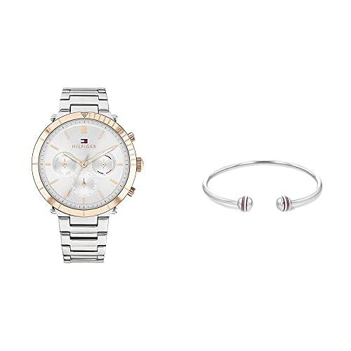 Tommy Hilfiger Reloj para Mujer + Brazalete