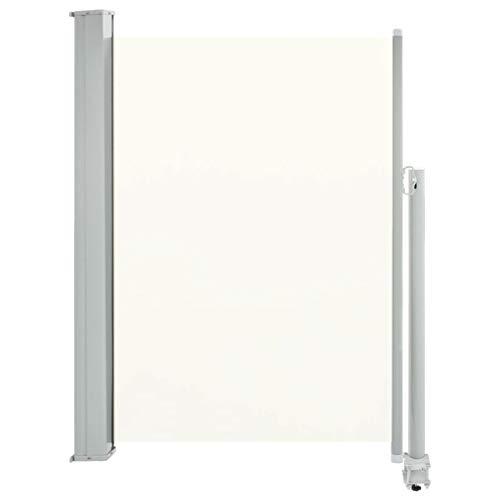 vidaXL Seitenmarkise Ausziehbar 100x300cm Creme Sichtschutz Windschutz Markise
