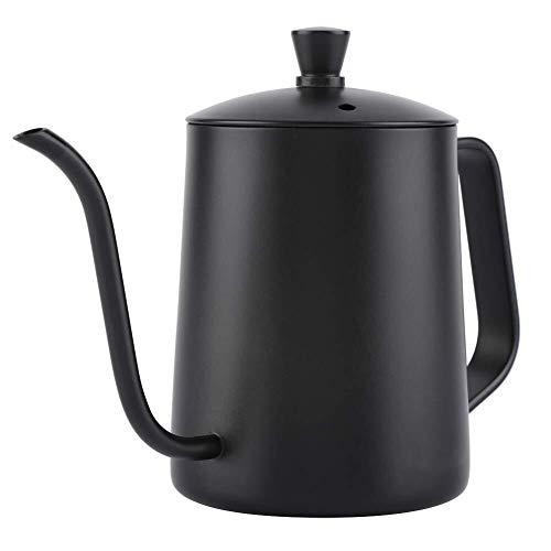 Lcjtaifu Kaffeekanne Kaffeekanne, 550 ml Edelstahl, Langer Schwanenhals, Kaffeekanne, Wasserkocher, Gießkanne mit Deckel for die Hauptküche, Kaffeestube