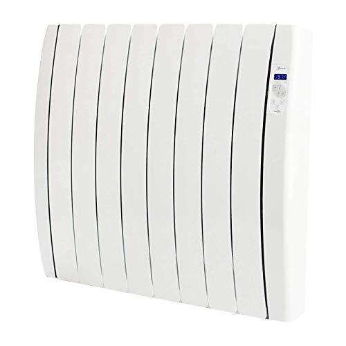 Haverland RC8TTS Inerzia - Emisor Térmico Bajo Consumo, 1200W de Potencia, 8 Elementos, Programable, Exclusivo Indicador De Consumo, Bloques De Piedra Natural Ideal Uso Prolongado