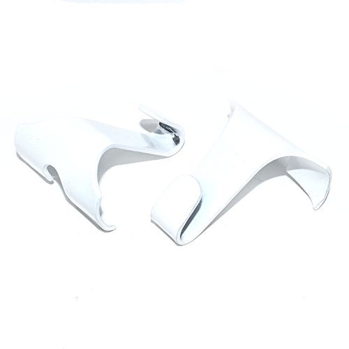 Pack of 10 x White Picture Rail Hooks (38 x 34mm)