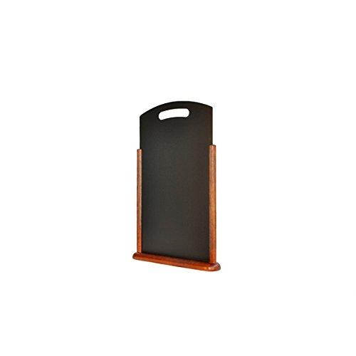 Genware Nev-tt-db-la Grande table Tableau noir, bois foncé, 21 cm x 45 cm