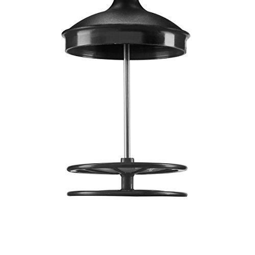 Bialetti Tuttocrema Aluminium, Black, 6 Cups, 1L