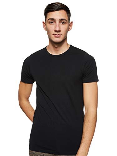 Jack & Jones Jones - Camiseta de manga corta con cuello redondo para hombre, Black C N 010, X-Large