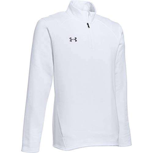Under Armour Men's UA Hustle Fleece 1/4 Zip (X-Large, White-Graphite)