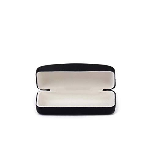 Caja de vidrios ultrafino cuadrados plegables compactos gafas de sol de la caja caja de vidrios simple almacenamiento conveniente herramienta con la herramienta al aire libre Negro de cuero de lujo