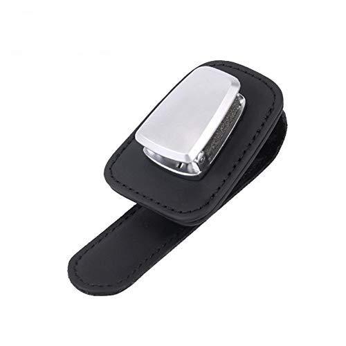 Luminiu Brillenhalter für Auto Sonnenblende, Auto Brillenhalterung Sonnenbrillenhalterung für Brille Schutzbrille Lesebrille, Sonnenblende-Clip mit Karten Karten Clip