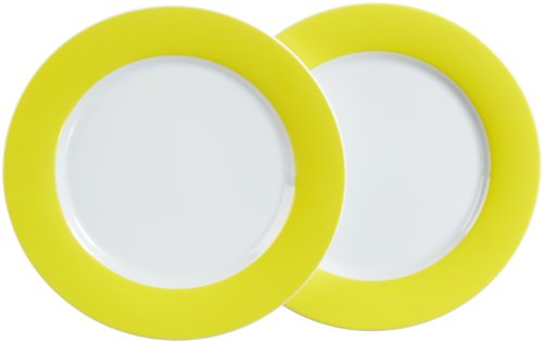 Kahla 57C184A70412C platte borden set 2-delig Pronto, citroengeel