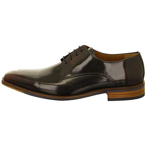 Salamander Tatano, Zapatos de Cordones Derby Hombre, Rojo (Barby Bordo 33), 45...