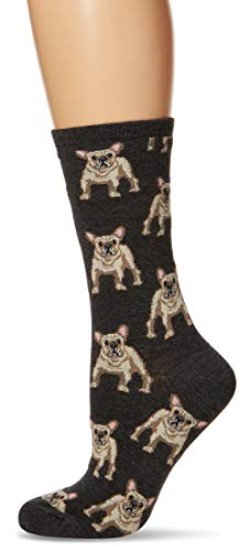 Socksmith Women's Frenchie Socks,Charcoal Heather, One Size
