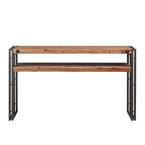 WanuigH Table de Bar Foyer Cabinet Salon Entrée Armoire Partition Armoire Décorative Table d'appoint de Style Industriel Tableau de Bar Simple et Pratique (Couleur : Marron, Size : 140x35x84cm)