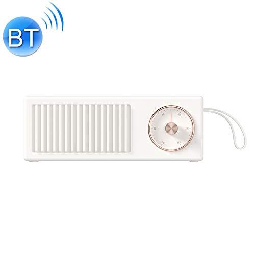 QIA Mini Retro drahtlose Bluetooth-Lautsprecher, Lautsprecher-beweglicher 4W 5V / 1A High Fidelity Stereo Auto-Subwoofer Rotary Switch,B