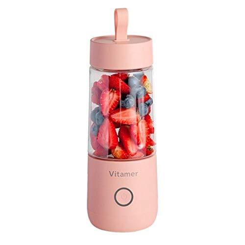 QSMIANA Zitruspresse Mini Tragbare Elektrische Vitamin-Saft-Tasse Flasche Vitamer-Frucht-Juicer-Lade-Smoothie Maker-Mixer-Maschine